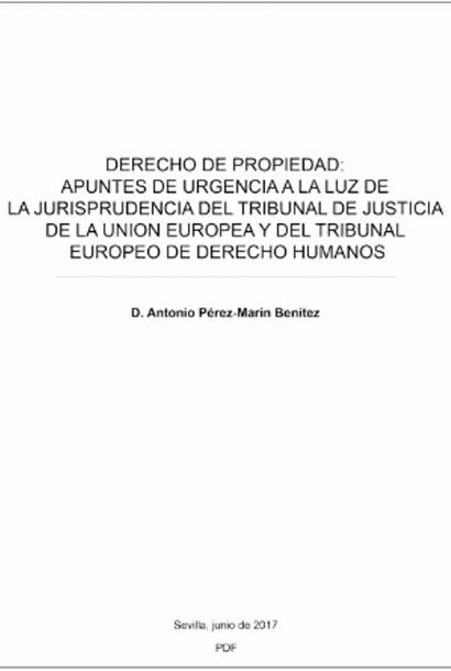 Publicaciones Pérez Marín Abogados - Derecho de Propiedad